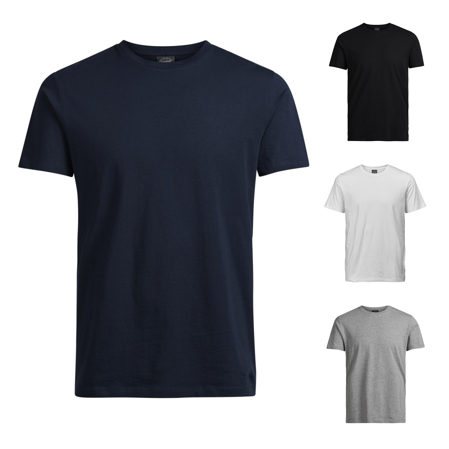 jack jones herren t shirt basic rundhals tee shirt. Black Bedroom Furniture Sets. Home Design Ideas