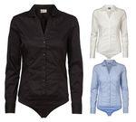 Vero Moda Damen Body-Bluse mit figurbetonender Passform VMLady L/S Body G STR Shirt Bluse 001