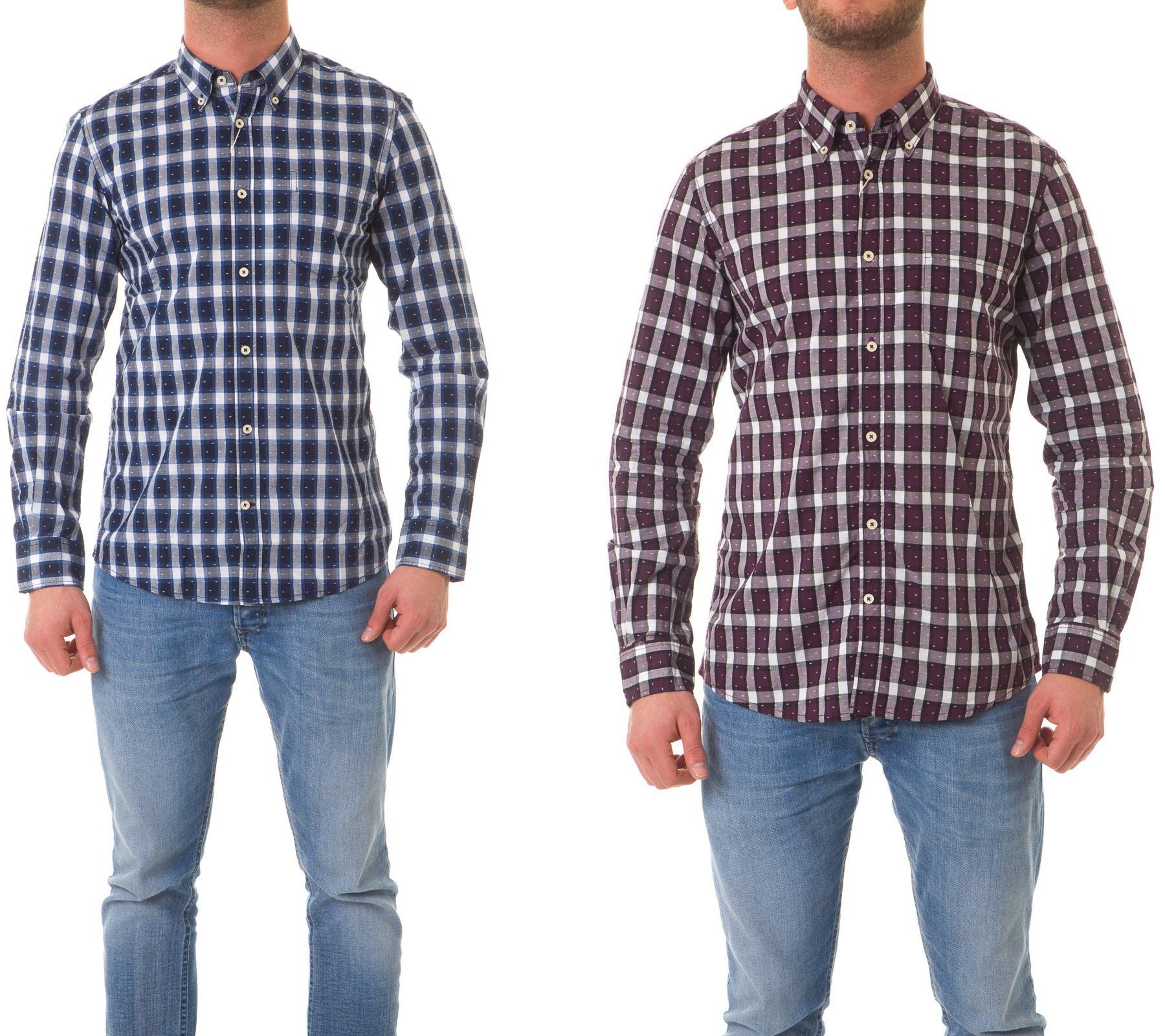 tom tailor herren hemd langarm shirt kariert herren hemden. Black Bedroom Furniture Sets. Home Design Ideas