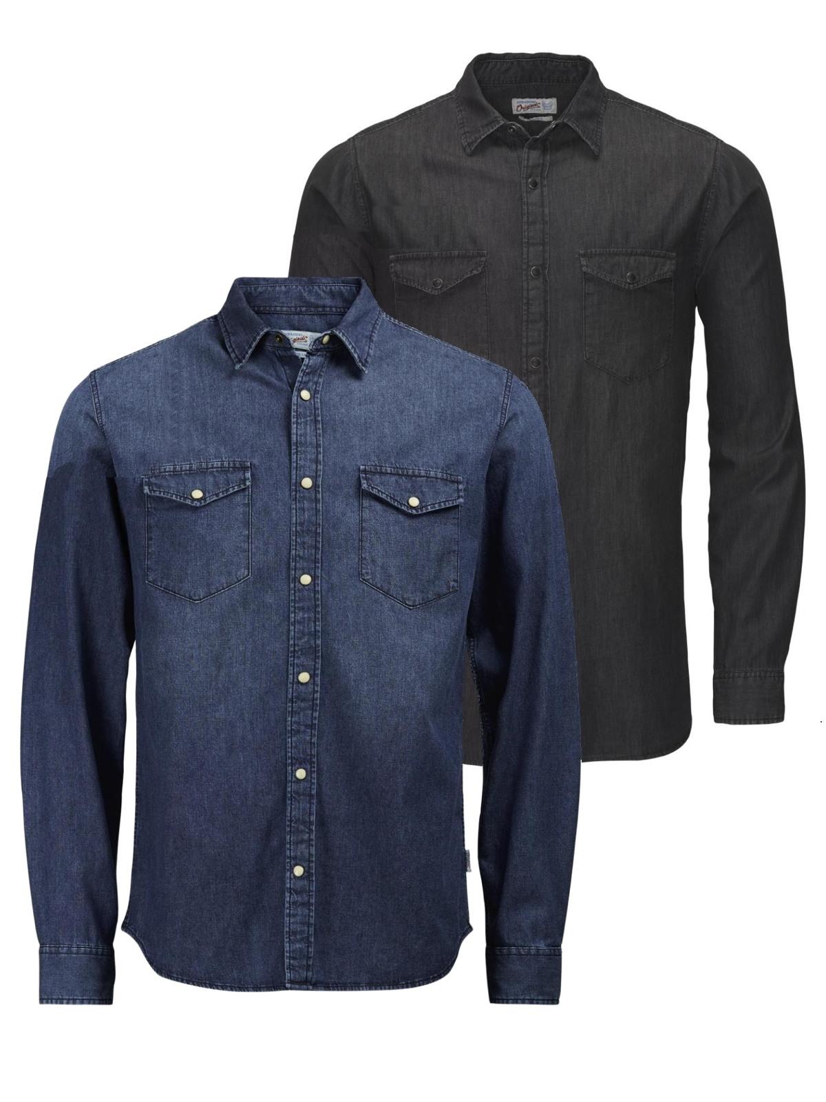 jack jones herren jeans hemd rone shirt langarm herren. Black Bedroom Furniture Sets. Home Design Ideas