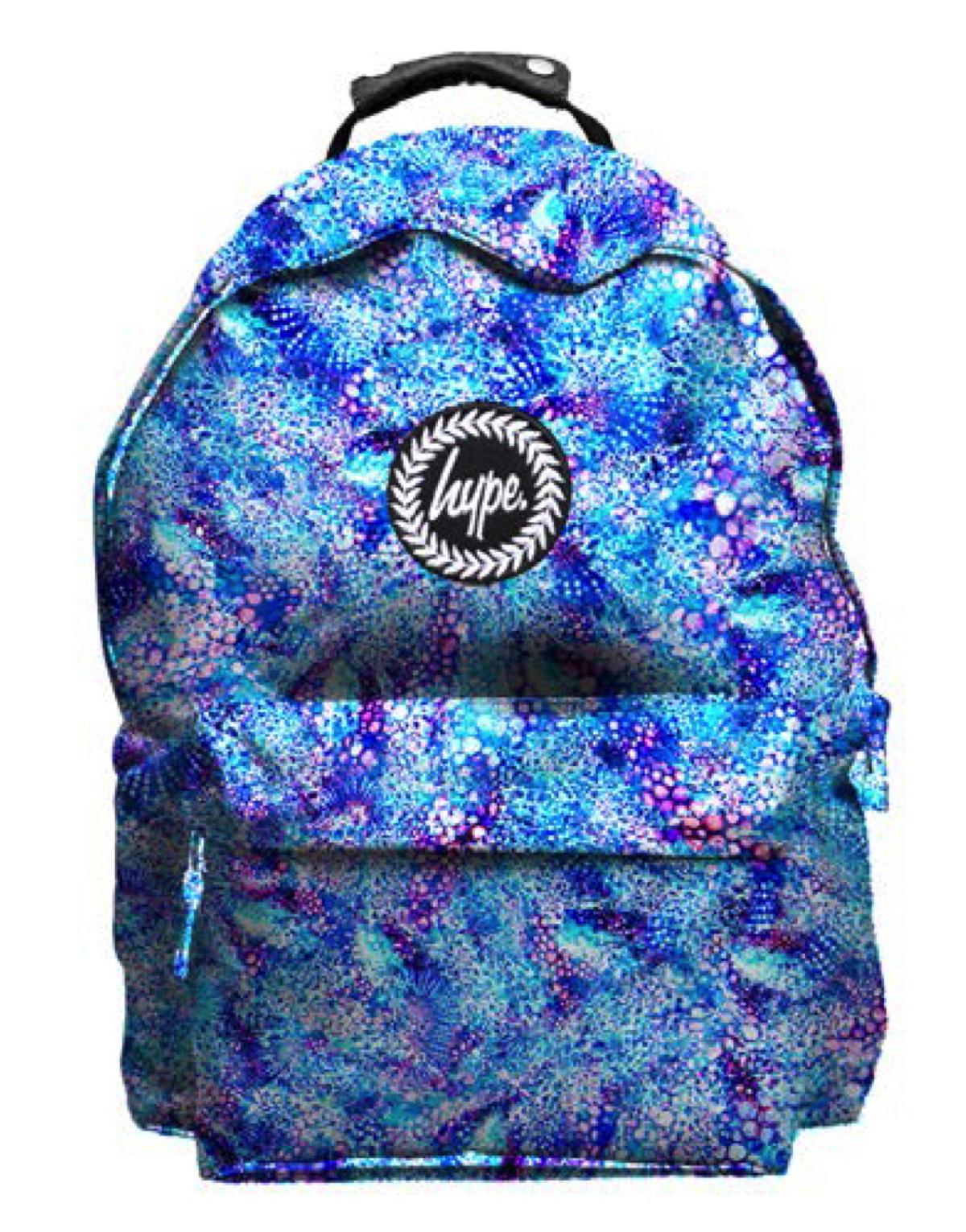 66eee7685bdac HYPE Rucksack Tasche Backpack 096 blau schwarz lila grün Sport ...