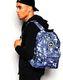 HYPE Rucksack Tasche Backpack 096 blau schwarz lila grün 4