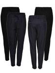 ONLY Damen Hose Onlpoptrash Pinstripe Pant blau schwarz 001