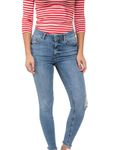 Pieces Damen Hose Pcfive Delly Cropped Jeans 17078967  001