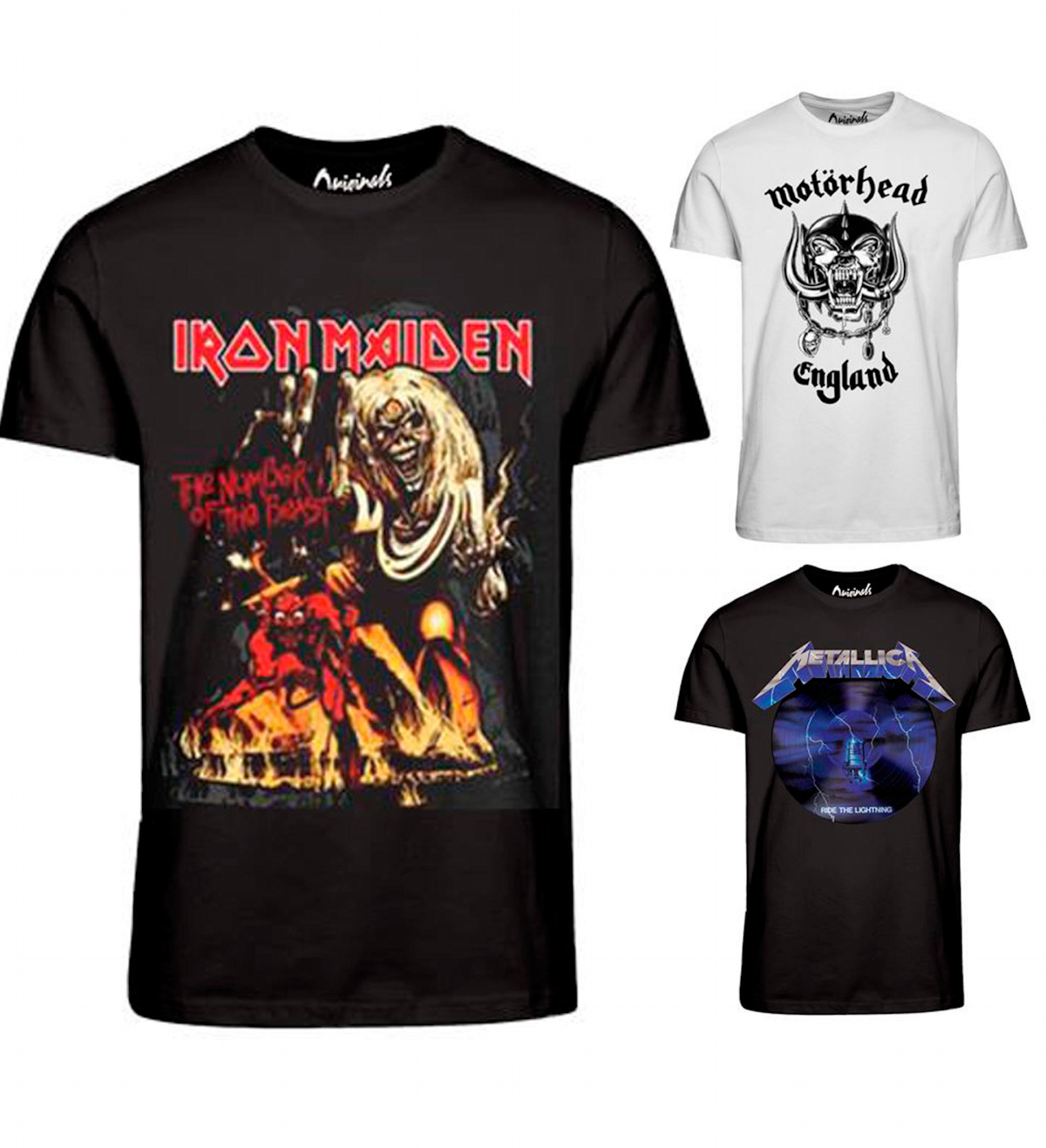 jack jones herren t shirt iron maden metallica. Black Bedroom Furniture Sets. Home Design Ideas