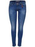 Only Damen Skinny Jeans-Hose Onlcoral Slim Sk 1743 blau