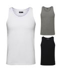 Jack & Jones Herren 3er Pack T-Shirt ärmellos Tank Top [1]