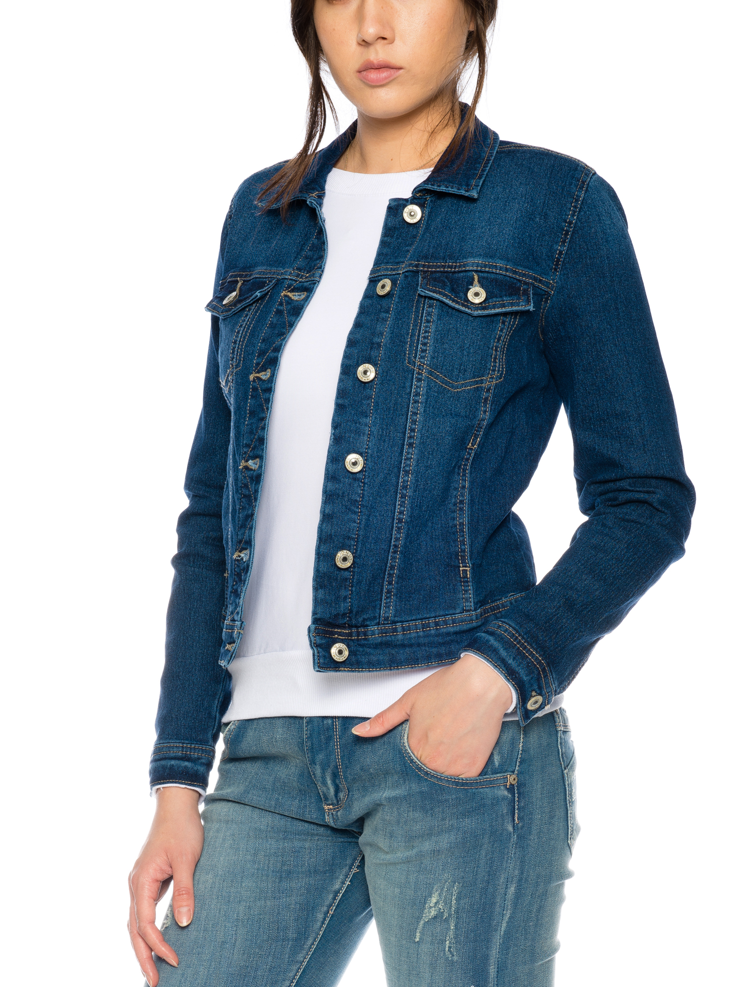 only damen jeans jacke bergangsjacke jacket. Black Bedroom Furniture Sets. Home Design Ideas