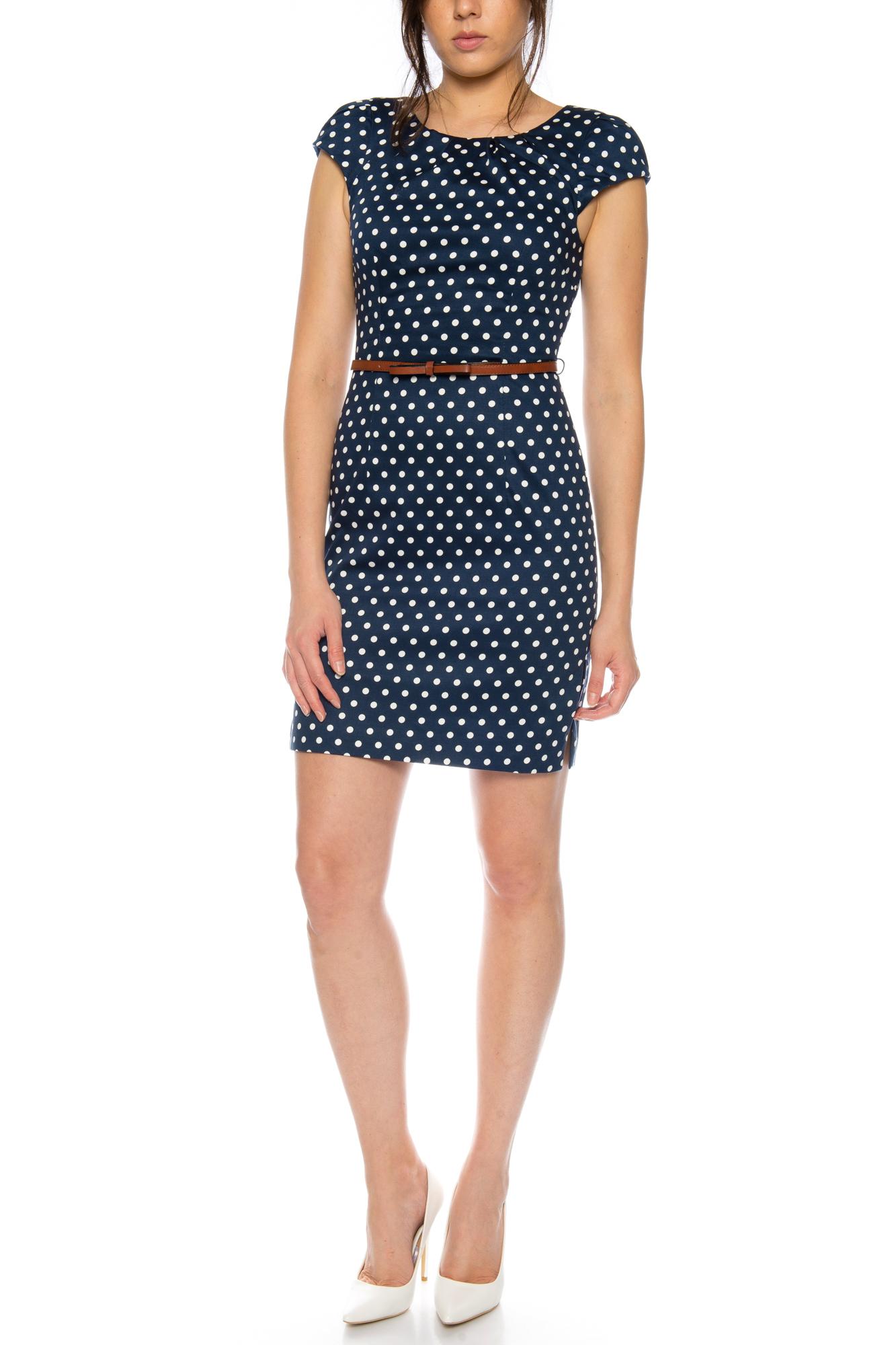 Vero Moda kurzes Damen Kleid mit Gürtel Abendkleid Business ...