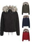 Only Damen Parka Winter-Jacke Fell-Kapuze onlPeyton  001