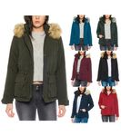 Only Damen Jacke Parka mit Fell-Kapuze onlStarlight Jacket  001