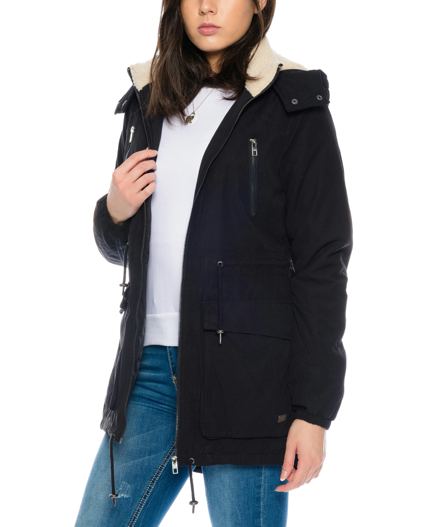 only damen parka jacke mit teddy fell bergangsjacke winterjacke freizeitjacke ebay. Black Bedroom Furniture Sets. Home Design Ideas
