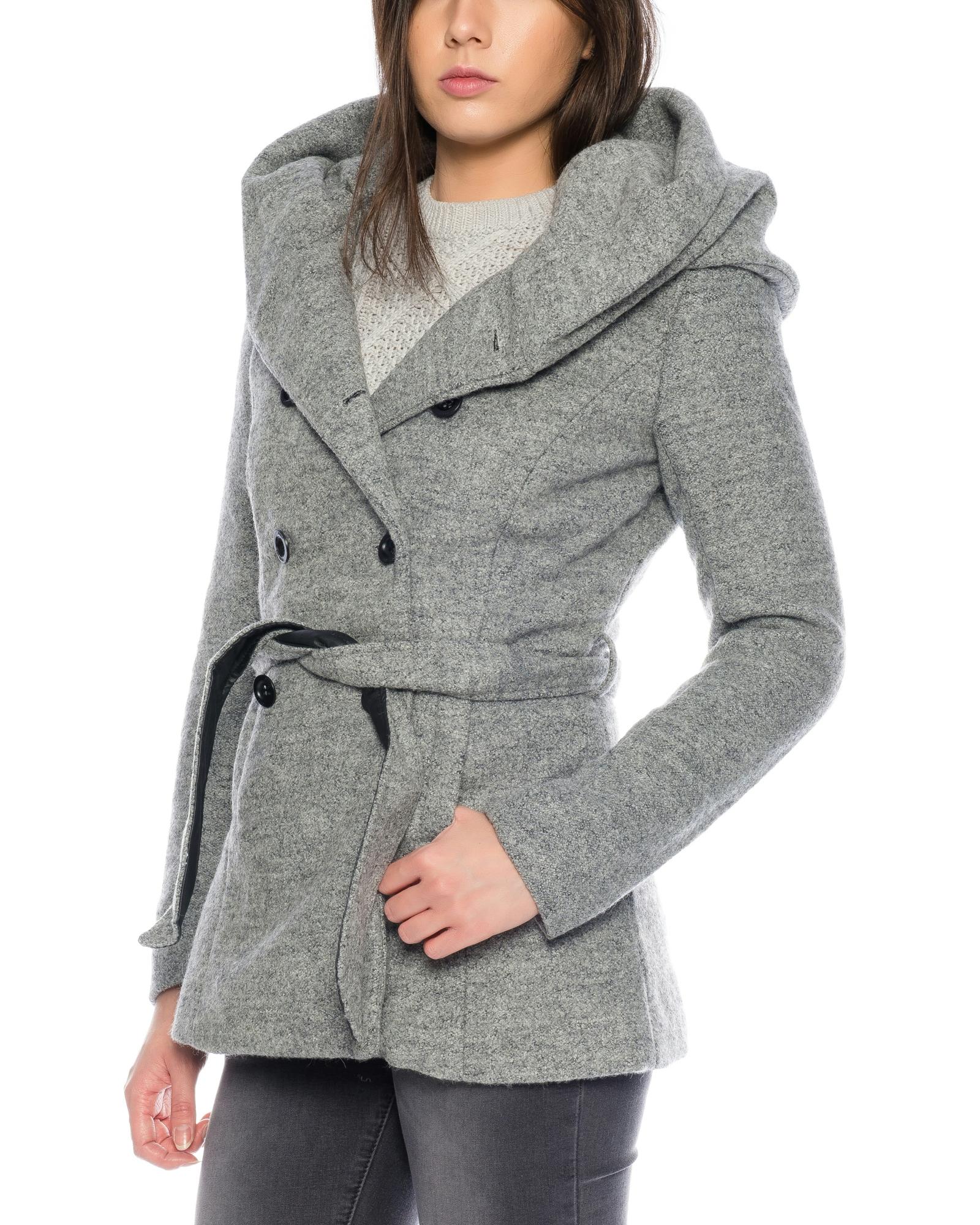 Only mantel grau kapuze