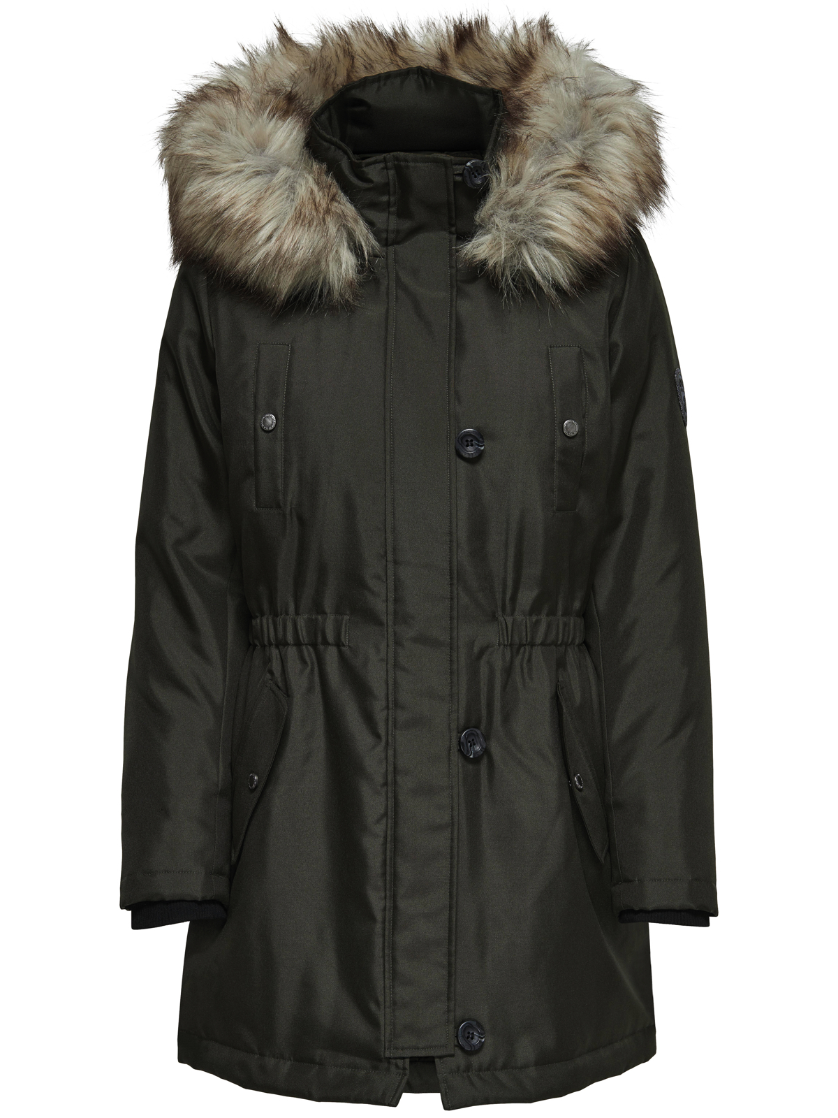 only damen winter mantel onliris parka jacke fellkapuze damen jacken. Black Bedroom Furniture Sets. Home Design Ideas