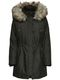 Only Damen Winter Mantel onlIris Parka Jacke Fellkapuze 5