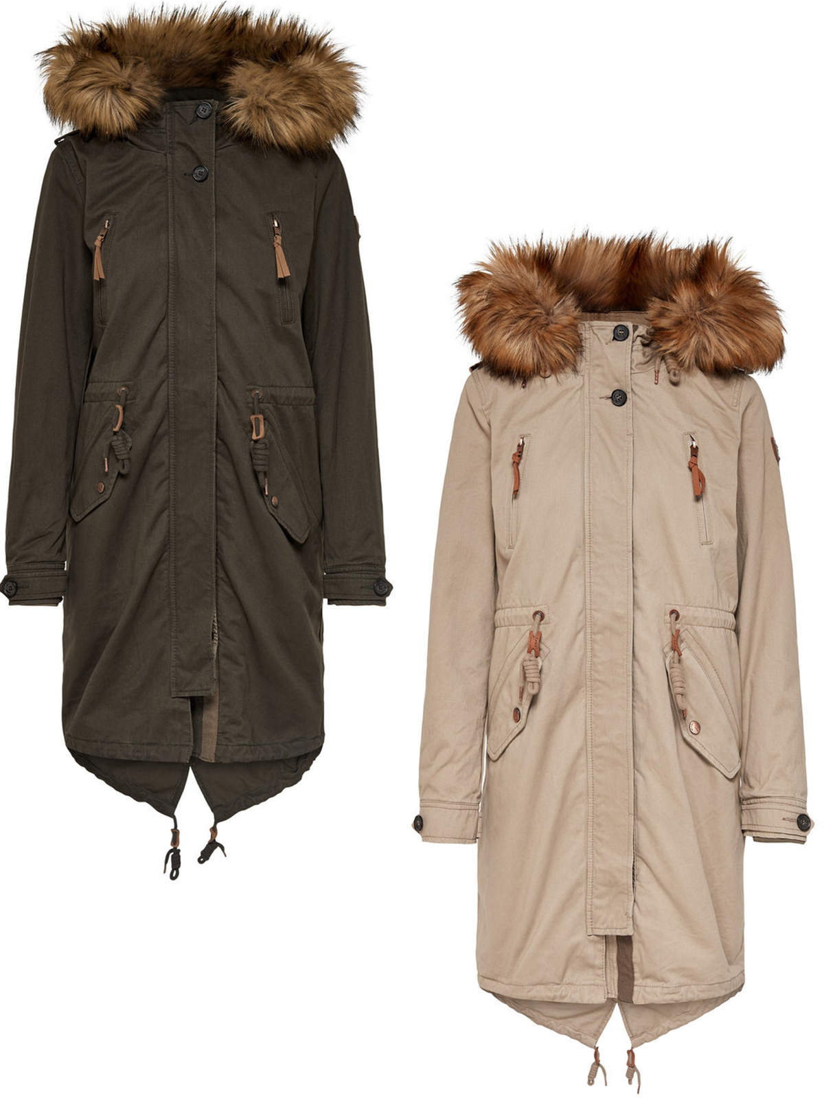 super popular 558aa c6fc6 Only Damen Mantel OnlEmma Functional 2-1 Parka 15139305 XS-XL