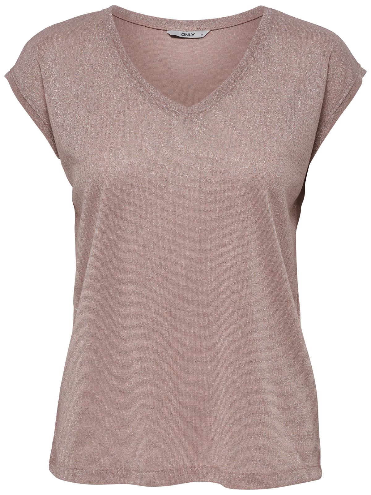 only damen v neck glitzer shirt onlsilvery top jrs. Black Bedroom Furniture Sets. Home Design Ideas