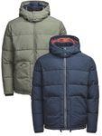 Jack & Jones Herren Stepp-Jacke JJVCoast Puffer Jacket S-XXL grün blau 001