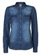 Vero Moda Damen Bluse Vera LS Denim Shirt blue 10122833 1