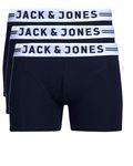 Jack & Jones Herren 3er Pack Boxershorts schwarz,weiß, blau, grau S-XXL [4]