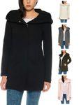 Only Damen-Woll-Mantel onlSedona Link Coat 15144772 Kurz-Mantel Übergang-Jacke 001