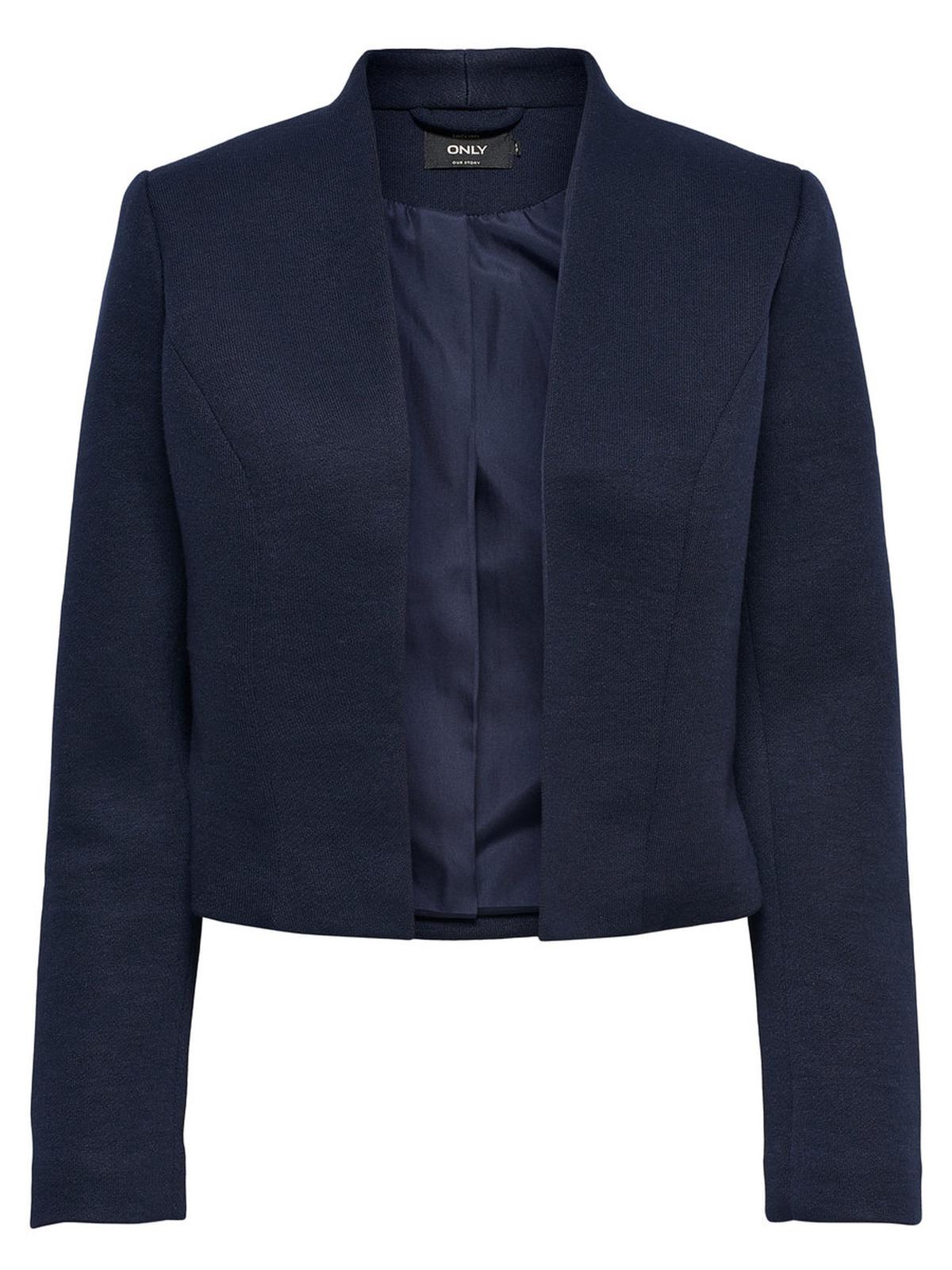 only kurzer damen blazer sakko jacket ohne verschlu kurz schwarz blau rosa neu ebay. Black Bedroom Furniture Sets. Home Design Ideas