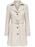 Only Damen Kurz-Mantel-Trenchcoat onlHallo Melange Coat modischer Mantel mit Gürtel [1]