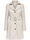 Only Damen Kurz-Mantel-Trenchcoat onlHallo Melange Coat modischer Mantel mit Gürtel 1