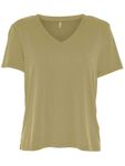 Only Damen T-Shirt mit V Ausschnitt Onlvenus Modal V-Neck S/S Top XS-XL [3]