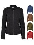 Only Kunstleder-Jacke onlSteady Leather Jacket Stehkragen [1]