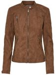 Only Kunstleder-Jacke onlSteady Leather Jacket Stehkragen [7]