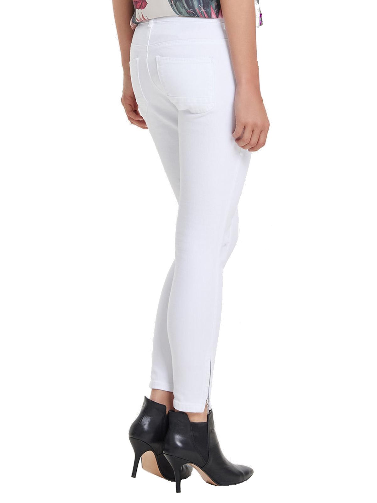 Only Damen Hose Regular Ankle Skinny-Jeans weiß modische weiße Hose ...
