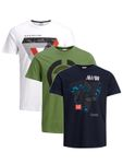 Jack & Jones Herren T-Shirt - JcoMateo Tee in Rundhals [1]