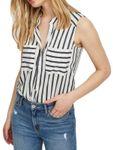 VERO MODA Damen Top-Bluse Vmerika S/L Stripe Shirt 10193156 [2]
