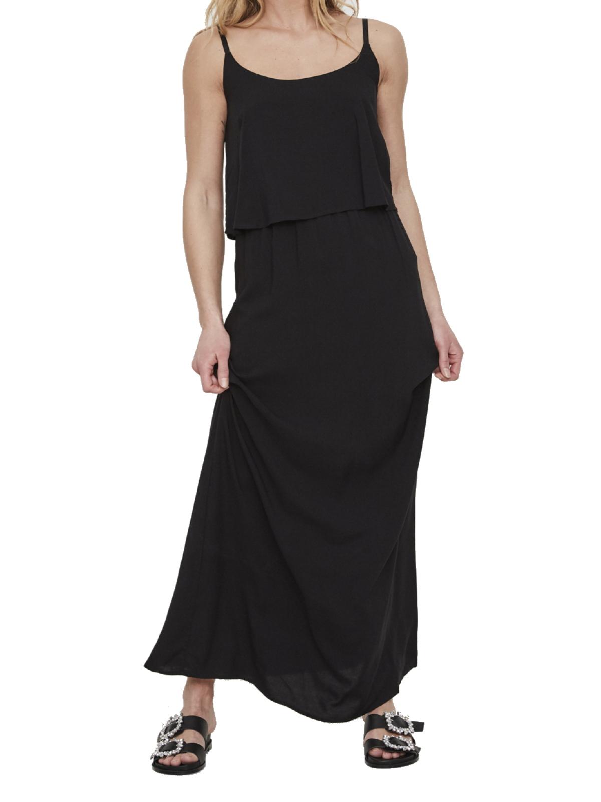 vero moda damen kleid in schwarz vmsuper maxi dress xs xl damen kleider. Black Bedroom Furniture Sets. Home Design Ideas
