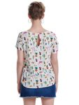 Only Damen-Shirt onlFirst SS Mix AOP Top mit Motiven 15138761 [4]