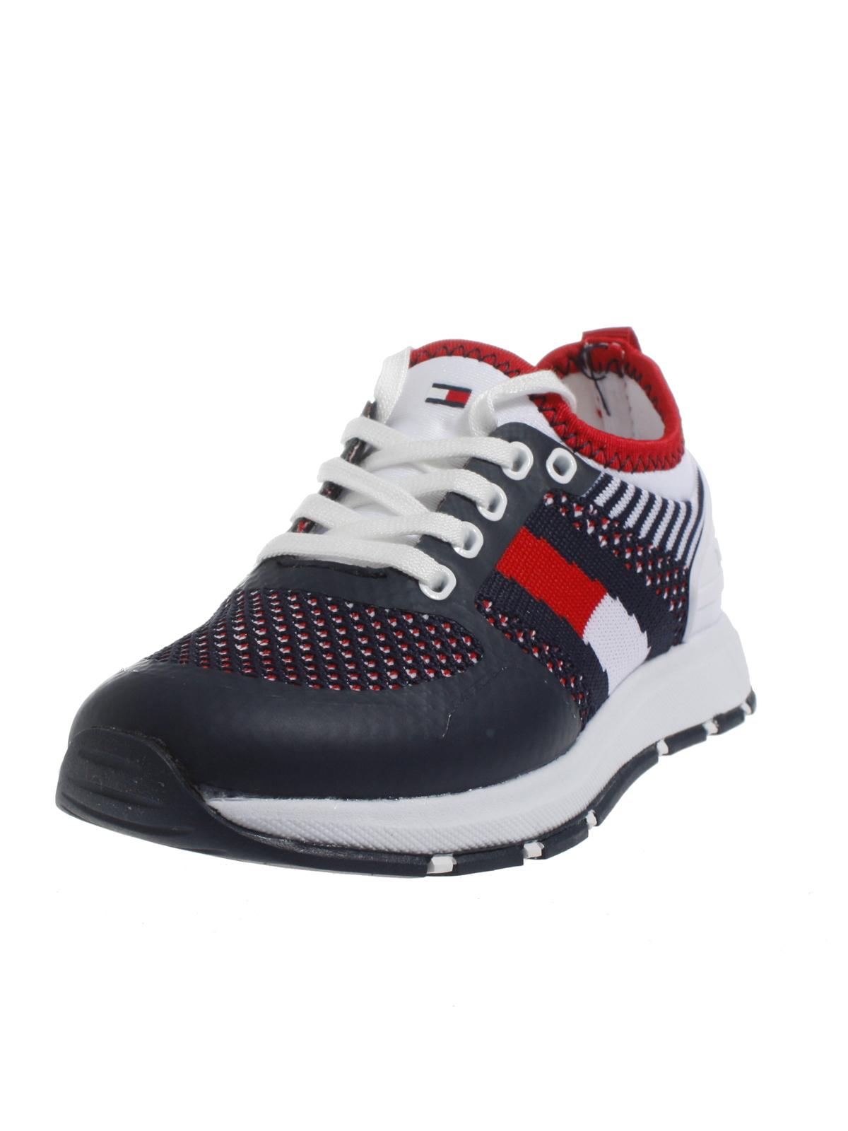 1e655a2ff4 Tommy Hilfiger Kinder Sneaker Schuhe für Jungs und Mädchen 24-30 Sneakers  weiß blau 3