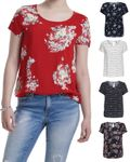 Only Damen-Shirt onlFirst SS Mix AOP Top mit Motiven 15138761 [1]
