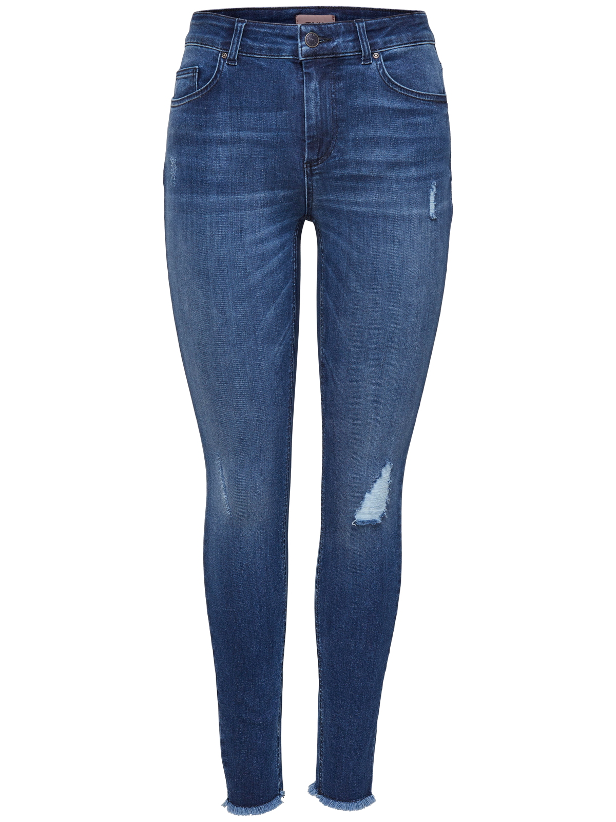 8fde1039132f55 Only Hose Skinny Jeans OnlBlush Mid Ank Raw Jeans Rea2077 Destroyed-Look
