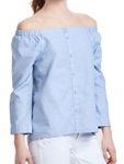 Only Damen Shirt onlDrew off Shoulder Top schulterfreie Bluse [3]