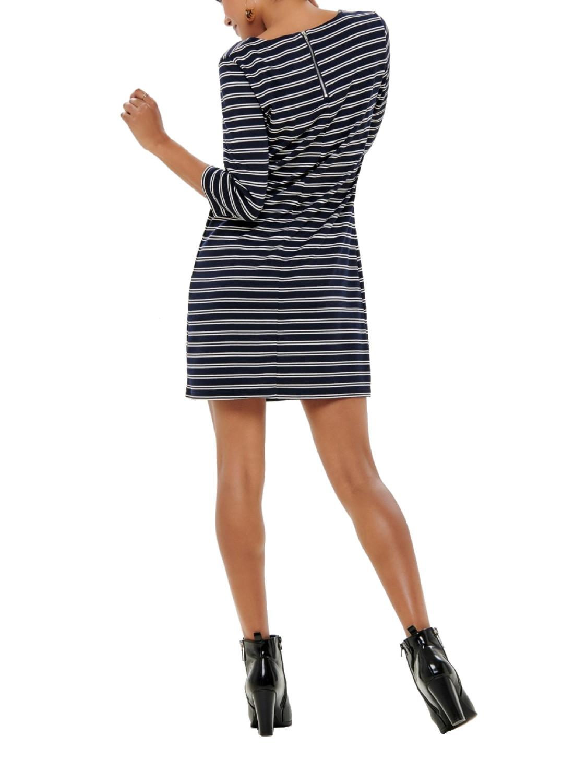 Only Damen Kleid onlBrilliant 3/4 Streifen Sommer Rundhals ...