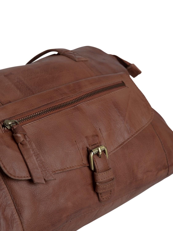 138e8f38b77b6 Pieces Leder Tasche Leather Travel Bag Handtasche Schultertasche ...