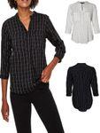 VERO MODA Damen Bluse VMErika Checker 3/4 Shirt XS-XL kariert [1]