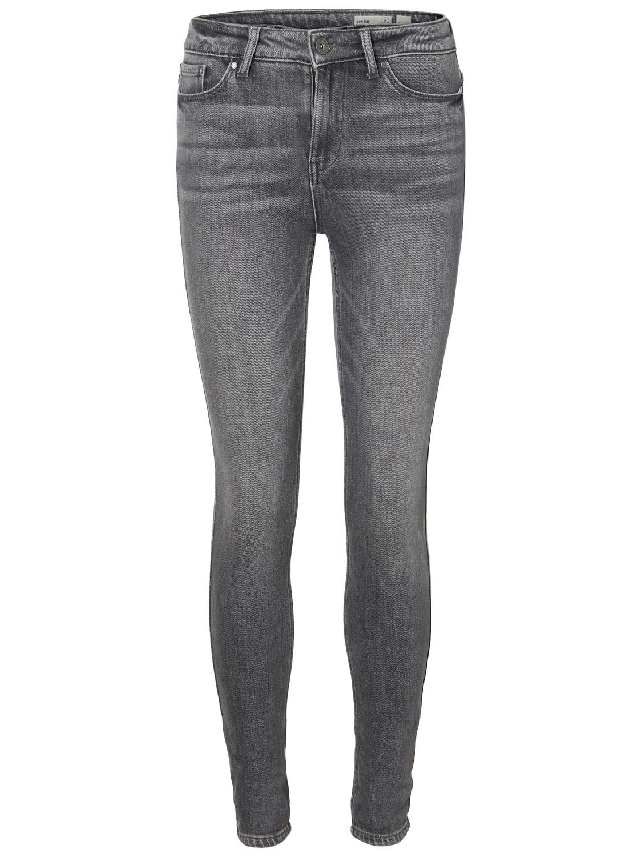 b4fc70ce74a3f9 Vero Moda Damen Skinny-Jeans VMSeven Slim grau Damen Jeans