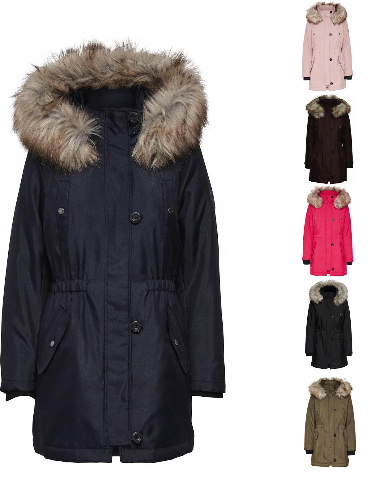 half off 3dc93 47040 Details zu Only Damen Winter Mantel onlIris Parka Jacke Fellkapuze modisch  elegant warm NEU