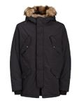Jack & Jones Herren Mantel Fell Kapuze Winter-Jacke Jorarctic Kapuzen Parka [5]
