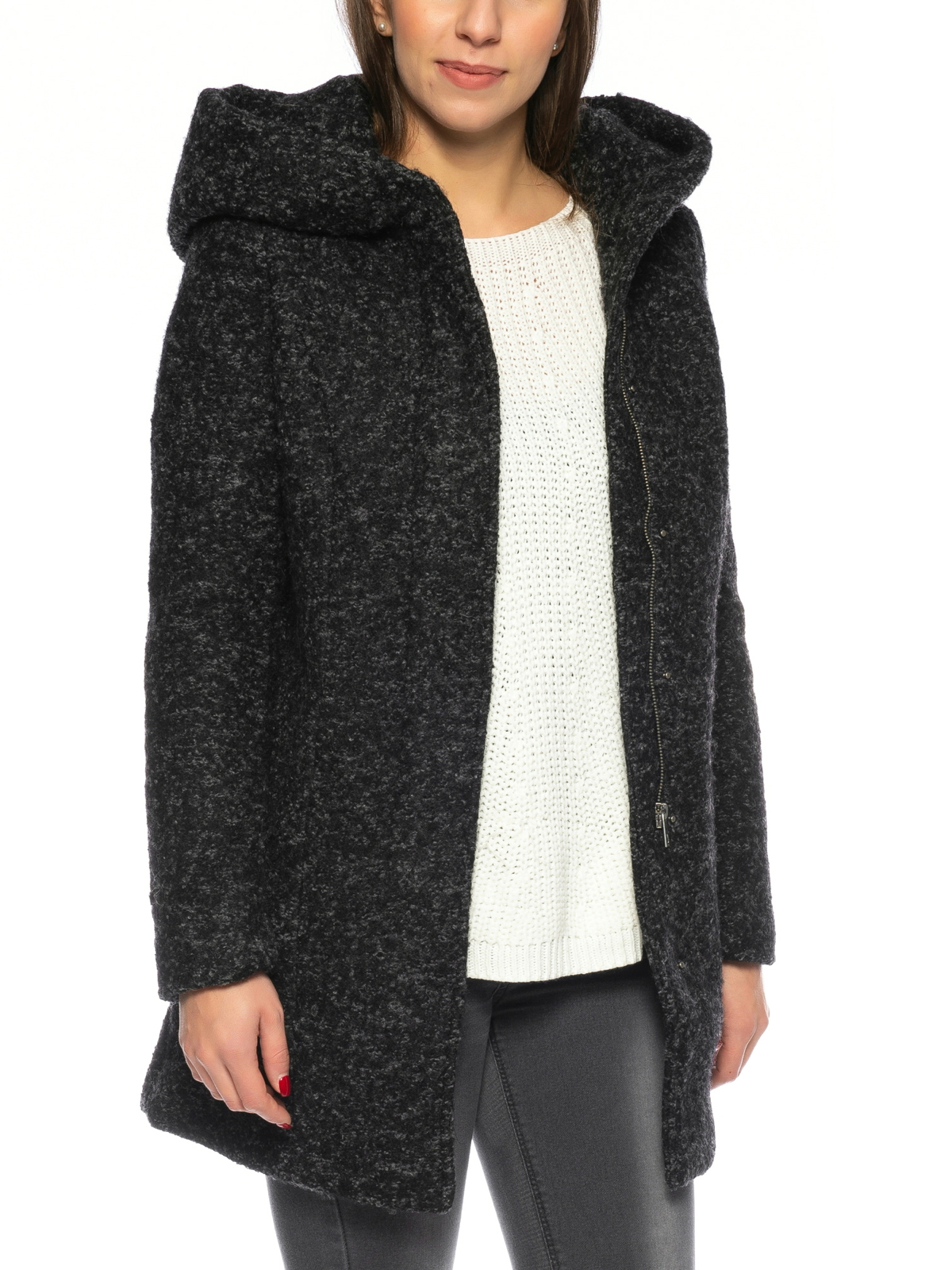 unglaubliche Preise modischer Stil neuesten Stil Details zu Vero Moda Damen Wollmantel Winter Coat VMVeroDona Jacke warm  Wolle große Kapuze
