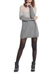 Only Strickkleid Long-Pullover breite Streifen langarm 001