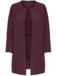 Only Strickjacke Leco Long Cardigan 15112273 bordeaux rot [1]