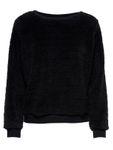 Only Damen Sweater ELLIE Langarm Teddyfell Pullover 001